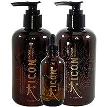 ICON India Care Trio (Shampoo 8oz, Conditioner 8oz & India Oil 3.38oz) by ICON