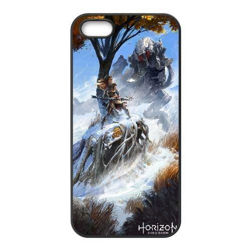 F4W46 Horizon Zero Down Création P9R9ZT coque iPhone 5 5s cellule de cas de téléphone couvercle coque noire KQ5FFS5ZC
