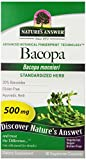 Nature's Answer Bacopa Standardized Vegetarian Capsules 500mg, 90-Count