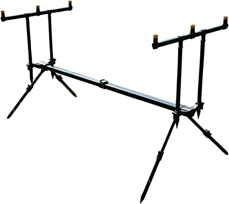 Neco ROD POD Pro 3 Rods Stand for Fishing Effective Fishing Aluminum Build Tripod Rod Holder GRATIS Etui 26018