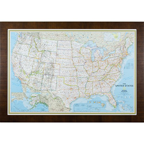 [해외]Craig Frames Classic 미국 여행지도/Craig Frames Classic US Travel Map