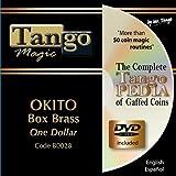 Okito Coin Box BRASS One Dollar by Tango Magic