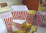 Retro Popcorn Set Bowl Plastic Classic Tub Red
