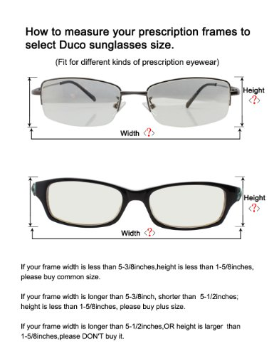 40693a46940 Duco Unisex Wear Over Prescription Glasses Rx Glasses Polarized Sunglasses  8953