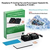 Raspberry Pi Cooling Fan and Pure Copper Heatsink Kit, for Raspberry Pi 3/2/B+.
