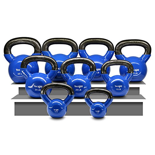 Yes4All-Single-Vinyl-Coated-Kettlebell-Great-quality-for-Cross-Training-MMA-Training-Home-Exercise-Fitness-Workout