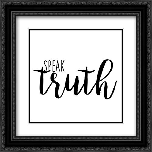 Quotable II 20x20 Black Ornate Frame and Double Matted Art Print by Hambly, ()