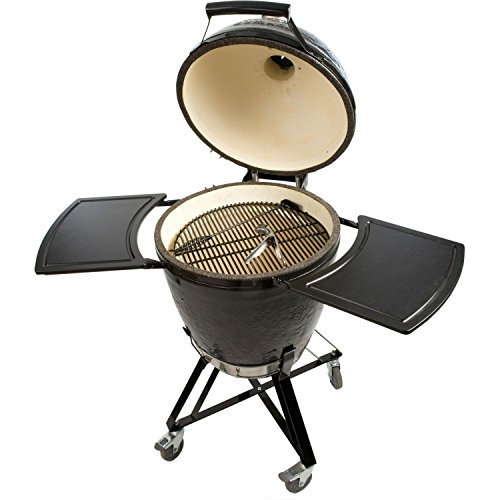 Primo Grills and Smokers 773 All-in-One Kamado Round Grill with Cradle Shelves, Ash Tool and Lift ()