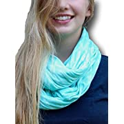 Two Sided Infinity Nursing Scarf Best Breathable PRIVACY Cover for Mom Baby