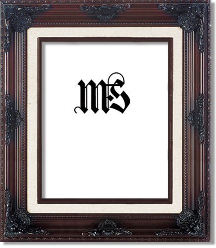 MyFrameStore 8x10 Imperial Wooden Picture Frames - Dark Mahogany | Exclusive Floral Design for Wedding, Hallway, Bedroom, Living Room & Office Décor. Wall Photo Frame & Wall Mounting Material,