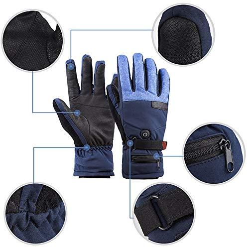 Gants Chauffants Unisexes avec écran Tactile à Trois Vitesses et contrôle de la température – Chauffage Intelligent pour activités en Plein air, Ski, Patinage d'hiver pour la randonnée