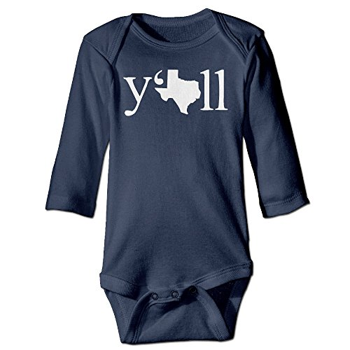 Texas Long Sleeve Baby Onesie Bodysuits (Cotton Print Teddies)