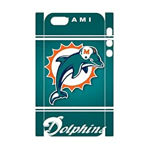 GGMMXO Miami Dolphins Phone 3D Case For iPhone 5,5S [Pattern-4]