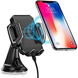 Wireless Car Charger, CHOETECH USB Type C 7.5W Wireless Car Charging Mount Stand Compatible iPhone X/8/8 Plus,10W Fast Wireless Charger Holder Compatible Samsung Galaxy S9/S9+/S8/S8+/Note 8/S7