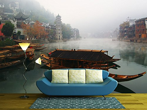 Landscape on the River Fenghuang Hunan China