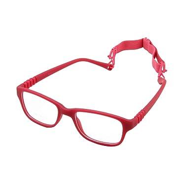 28fcb937d1 EnzoDate Boy Glasses Frame with Strap Size 43 16 One-piece No Screw Safe