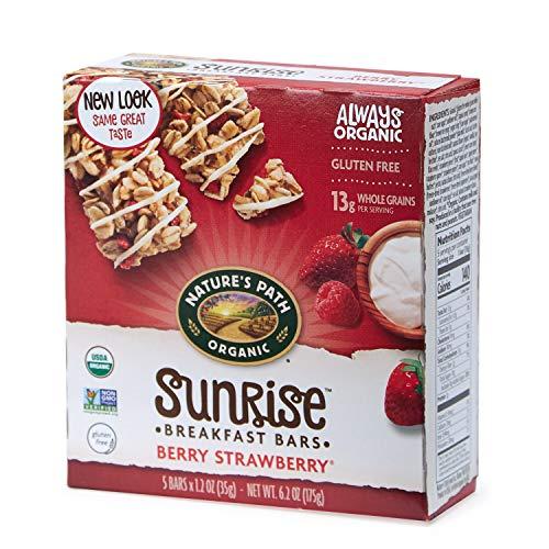 - Nature's Path Organic Chewy Granola Bars, Yogurt Berry Strawberry Flax Plus, 6.2 Ounce Box (Pack of 6)