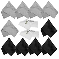 Microfiber Cleaning Cloths - 10 Colorful Cloths and 2 White ECO-FUSED Cloths - Ideal for ...