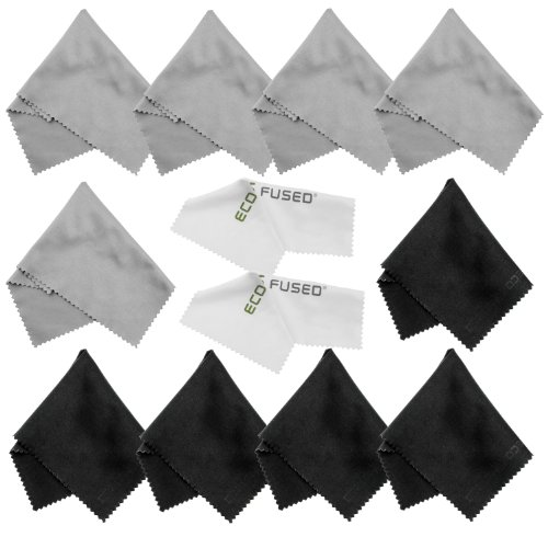Eco-Fused Microfiber Cleaning Cloths - 10 Cloths and 2 Wh...