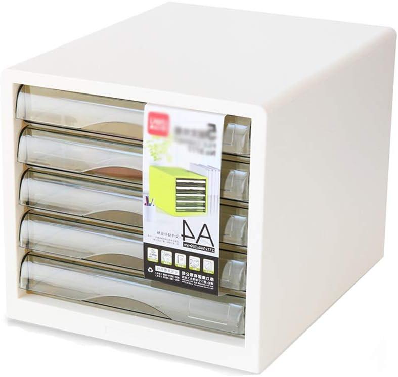 Archivador, cajón de 5 Capas Tipo gabinete de Almacenamiento de Archivos de Escritorio Caja de Archivos de plástico Material de Oficina Caja de Almacenamiento de Archivos A4 Tamaño 27.5x34.4x25.9CM: Amazon.es: Electrónica
