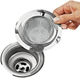 "Sink Tub Strainer Screen Stainless Steel Fits 3""- 3 1/2"" Drains - Kitchen Tools"