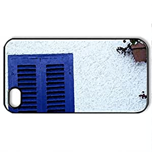 ALMERIA-mojacar - Case Cover for iPhone 4 and 4s (Houses Series, Watercolor style, Black)