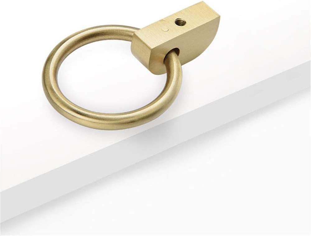 XuZeLii T/ürgriff Gold Massiver Messingring Griff for Verschiedene Arten Von M/öbeln Vintage T/ürgriff Farbe : Golden, Gr/ö/ße : 42mm Diameter