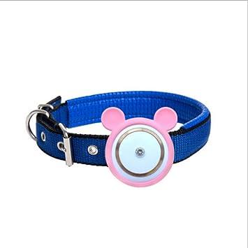 ZHENGDY Mascota Collar GPS Localizador, Localizador Anti-Perdida Anti-Robo De Dispositivos De Alarma Perros Y Gatos,Pink: Amazon.es: Hogar