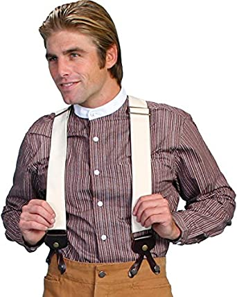 Men's Vintage Style Suspenders Canvas Suspenders $42.78 AT vintagedancer.com
