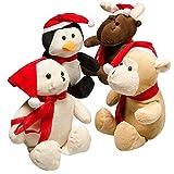 "Prextex 12"" Christmas Plush Animal Assortment with Santa..."