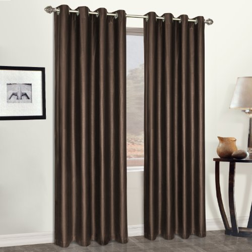 leather curtain panels - 1