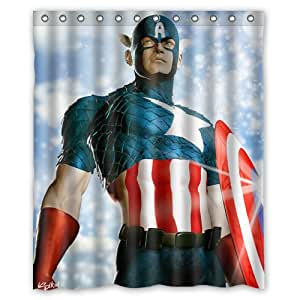 Great design captain america custom shower curtain 60 x 72 inch nifty home kitchen - Captain america curtains ...