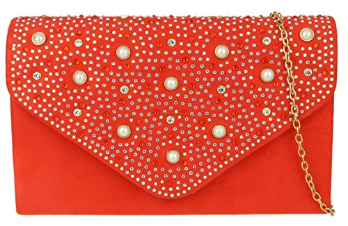 Rhinestones HandBags Bag Girly Clutch Scarlet HandBags Girly tqWHxwqB