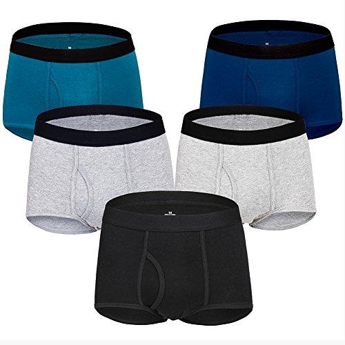 Boxershorts Herren Baumwolle Boxershorts Männer Unterwäsche Pack von 5 S/M/L/XL/XXL