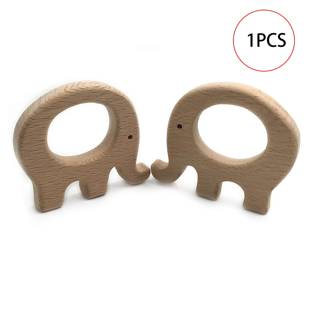 1pc Natural Wooden Baby Teether Toys Animal Fat Elephant Molar Toy FineDevelopment And Sensory Skills Toy Perfect Shower Gift Accessorie and Decoration Hilai