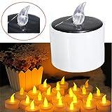 Lights & Lighting - Solar Powered Led Candle Battery Wedding Decor Romantic Warm