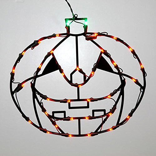 d LED Pumpkin Halloween Window Silhouette Decoration (Pumpkin Silhouette)