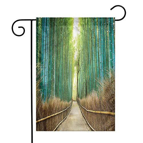 WinfreyDecor Bamboo Forest Garden Flag Nature Park in Japan Premium Material 12