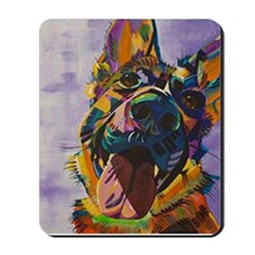 Shepherds German Cute (CafePress - German Shepherd Pup Art Mousepad - Non-slip Rubber Mousepad, Gaming Mouse Pad)