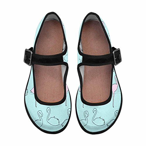 InterestPrint Womens Comfort Mary Jane Flats Casual Walking Shoes Multi 7 byJuds