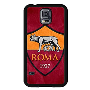 DIY Associazione Sportiva Roma Logo Phone Case Black Hard Plastic Case Cover For Samsung Galaxy S5