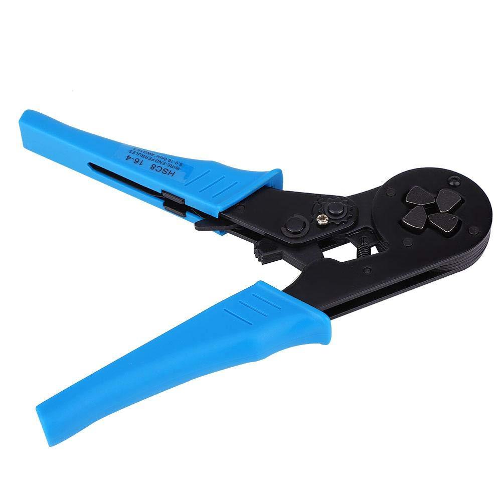 6-16 mm/² Alicates para Prensar Engarzadores de Alambre Profesionales para Terminales Tubulares Descubiertas y Terminales Preaislados AWG 10-5 Pelacables
