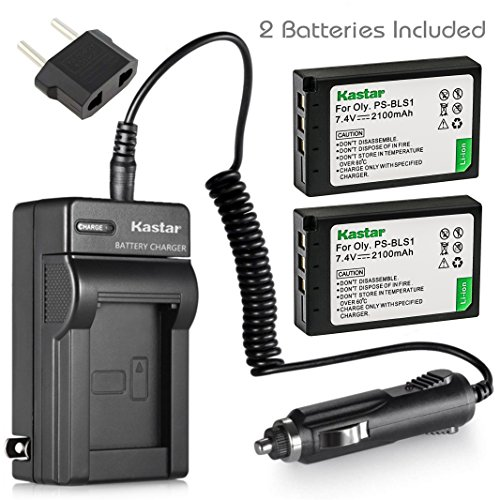 Kastar 2 Pack PS-BLS1 BLS-1 Battery and Charger for Olympus Evolt E-420 E-410 E-400 E-450 E-600 E-620 PEN E-PL1 E-P1 E-P2 E-PL3 E-PM1 E-P3 Digital Camera (400 Battery Digital Camera)