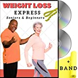 Weight Loss: Senior Exercise DVDs + Resistance Band. 5 Fat Burning, Low Impact Workouts for 55+ and Active Seniors. Mix of Standing, Seated Exercises. 55+ and Active Senior Exercise Video Program.