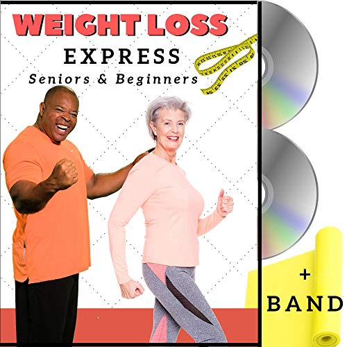(Weight Loss Exercise for Seniors and Beginners- 5 Fat Buring Workouts + Resistance Band. Easy to follow fitness program, burns calories, fun to do! Low impact exercise DVD for seniors and beginners.)