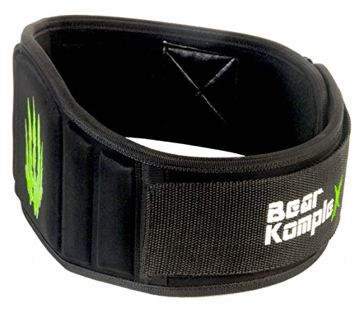 Bear KompleX Weighlifting belt for Powerlifting, Crossfit, Squats, Weight Training and more. Low profile velcro with super firm back for maximum stability and exceptional comfort. BLACK Med