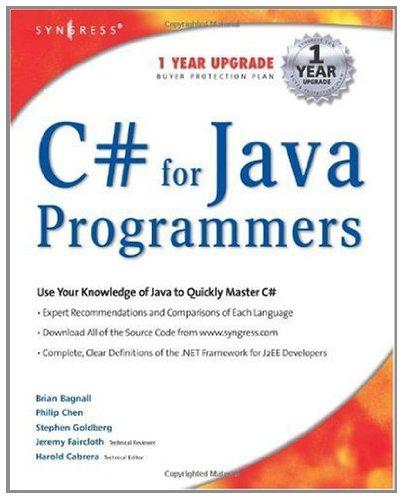 Download C# For Java Programmers Pdf