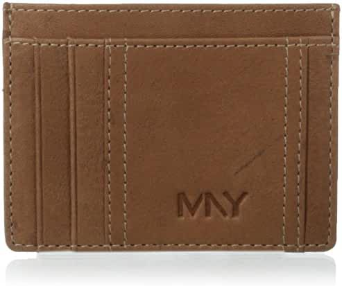 Marc New York Men's 2 Tone Washed Flat Card Carrier