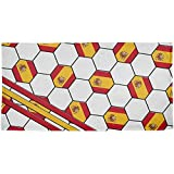 Old Glory World Cup Spain Soccer Ball All Over Beach Towel Multi Standard One Size