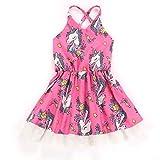 puseky Infant Baby Girls Pink Dress Lace Strappy Backless Princess Sundress (12-18M)